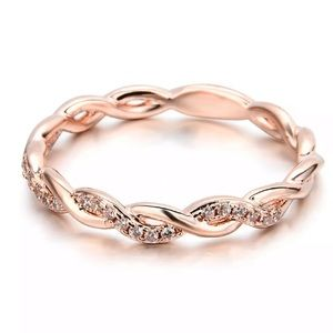Jewelry - 3/$25 Twisted ring rose gold sterling silver
